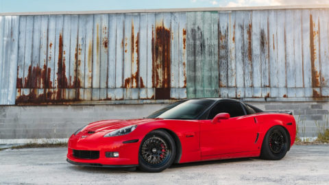 Red Corvette Z06 - CCW Classic Forged Wheels