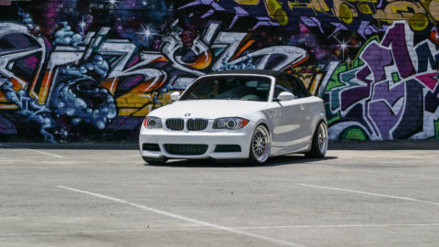 Alpine White BMW 135i - CCW LM20 Wheels