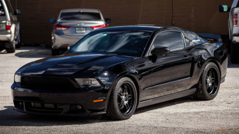 Black Ford Mustang - CCW SP505 Forged Wheels - Matte Black